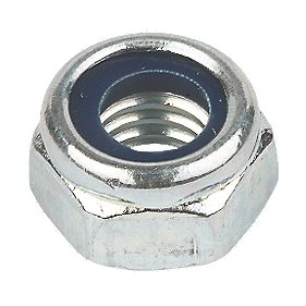 Nylon Lock Nuts BZP M6 Pack of 100
