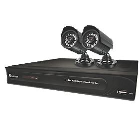 Swann DVR4-12002 CCTV 4-Channel Smartphone DVR Kit with Li-Ion Battery