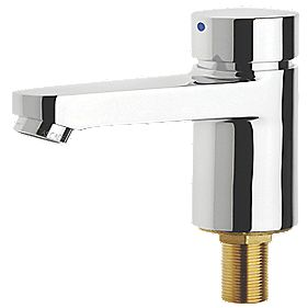 Aqualine-C Self-Closing Hot Water Low Pressure Bathroom Basin Pillar Tap