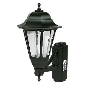 ASD 100W Black Coach Lantern Wall Light Photocell Included