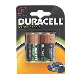 Duracell 75052458 C Rechargeable Batteries Pack of 2