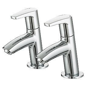 Bristan Orta Basin Pillar Bathroom Taps Pair