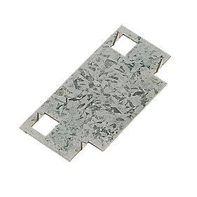 Sabrefix Protecta Safe Plate Galvanised 45mm x 90mm 20 Pack