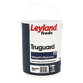 Leyland Truguard Smooth Masonry Paint Brilliant White 5Ltr