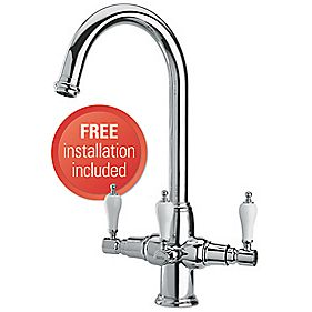Brita Kelda 3-Way Sink-Mounted Mono Mixer Kitchen Filter Tap Chrome