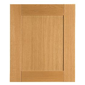 Golden Oak Shaker Kitchen Single Integrated Appliance Door