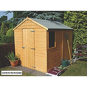 Shire Shiplap Single Door Apex Shed 8' x 6' x 7' (Nominal)