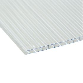 Corotherm Horticultural Insulated Roofing Sheet Clear 610 x 4 x 1200mm Pack of 10