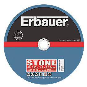 Erbauer Stone Cutting Discs 230 x 3.5 x 22mm Pack of 5