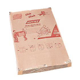 Mottez Automatic Folding Moving Box 96Ltr 600 x 400 x 400mm Pack of 5