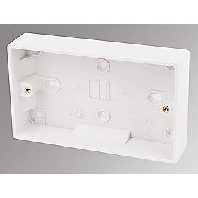 Marbo 2-Gang Surface Pattress Box White 25mm