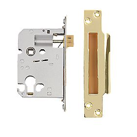 "Securefast Euro Cylinder Sashlock Brass 3"" (76mm)"