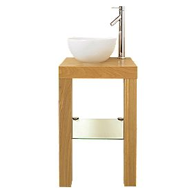 Bathroom Washstand Oak Effect 450 x 345 x 700mm