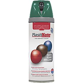 Plasti-Kote Premium Spray Paint Gloss Lawn Green 400ml