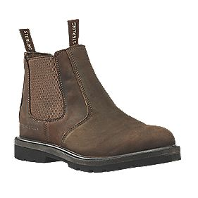 Sterling Steel SS808SM Dealer Safety Boots Brown Size 8