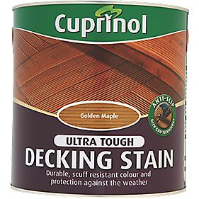 B and Q Ultra Tough Decking Stain Golden Maple 2.5Ltr