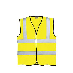 "Hi-Vis Waistcoat Yellow Large 40-44"" Chest"
