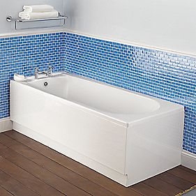 Bath End Panel White Acrylic 700mm