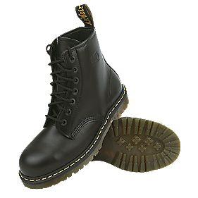 Dr Martens 7-Eyelet Safety Boots Black Size 10
