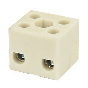 Hylec Double Pole 32A Steatite Ceramic Terminal Blocks Pack of 5