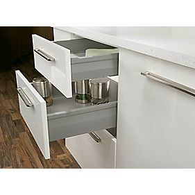 Moovit Drawer Sides Silver Grey 400mm