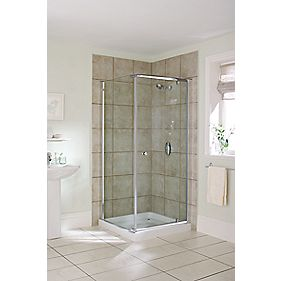Mira Square Shower Enclosure Silver Effect 760mm