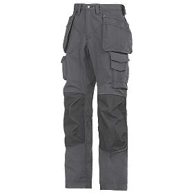 "Snickers Rip-Stop Pro-Kevlar Floorlayer Trousers Grey/Black 33"" W 32"" L"