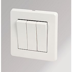 Crabtree 3-Gang 2-Way Rocker Switch