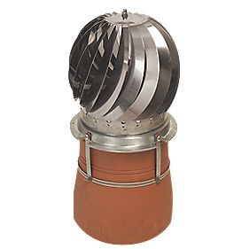YBS Revolving Chimney Cowl Stainless Steel 300 x 320mm