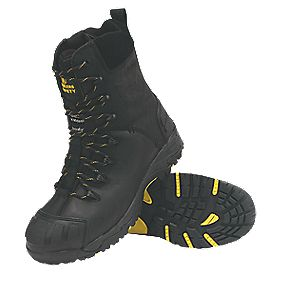 Amblers Steel Zip-Up Safety Boots Black Size 8