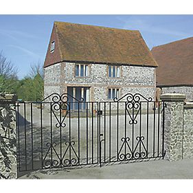 Metpost Ludlow Double Gate Black 975 x 950mm