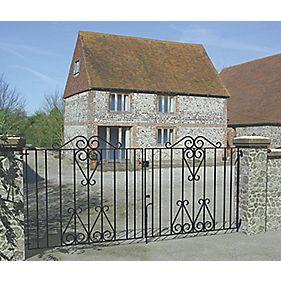 Metpost Ludlow Double Gate Black 975 x 930mm