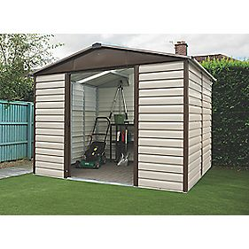 "Yardmaster Shiplap Sliding Door Apex Shed 9'10"" x 6'3"" x 7'2"""
