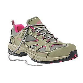 Site Pebble Ladies Safety Trainers Grey / Pink Size 3