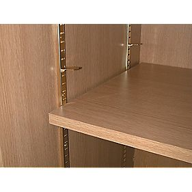 Bookcase Strips Electro Brass 16mm x 1m Pack of 10
