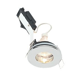 LAP Fixed Round Low Voltage Bathroom Downlight Chrome Effect 12V