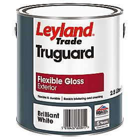 Leyland Trade Truguard Flexible Gloss Paint Brilliant White 2.5Ltr