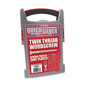 Quicksilver Woodscrews Trade Case Grab Pack Double-Countersunk 1000Pcs