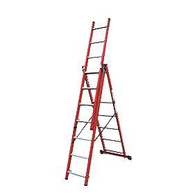 Lyte SFRC7 Fibreglass 3-Way Combination Ladder 3 x 7 Rungs 4.2m