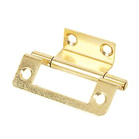 Steel Double Cranked Hinge Electro Brass 50mm Pack of 2