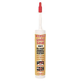 Evo-Stik Gold Shower & Bathroom Sealant White 280ml