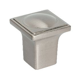Dot Door Knob Brushed Nickel 20mm Pack of 5