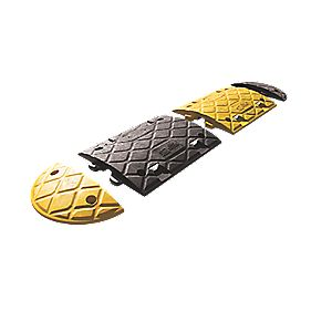 JSP Speed Bumps Black & Yellow 50mm Pack of 2