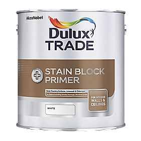 Dulux Trade Stain Block Plus White 2.5Ltr