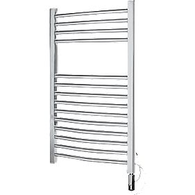 Kudox Curved Electric Thermo Radiator Chrome 700 x 400mm 150W 511Btu