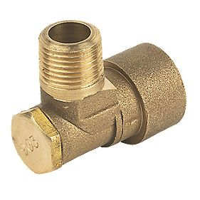 Angled Bayonet Socket Gas Fitting ½""