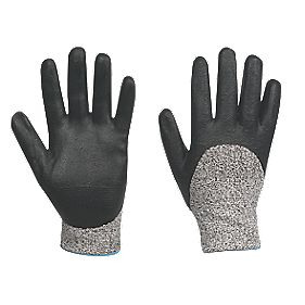 Cut-Resistant ¾ Dip Nitrile Foam Gloves Grey / Black X Large