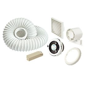 Manrose Shower Light & Extractor Fan Kit Chrome 125mm