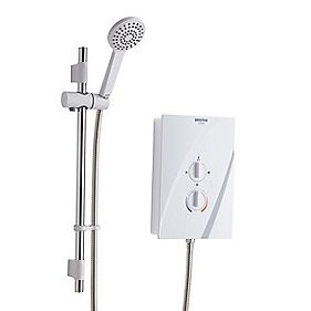Bristan Cheer Manual Electric Shower White 8.5kW