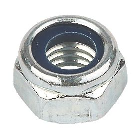 Nylon Lock Nuts BZP Steel M16 Pack of 50